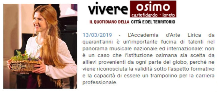 Interview to the Solists of the Accademia d'Arte Lirica