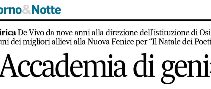 Accademia di Geni- Corriere Adriatico