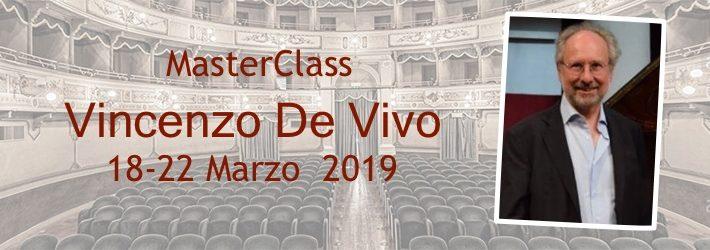 Master class with Maestro Vincenzo de Vivo