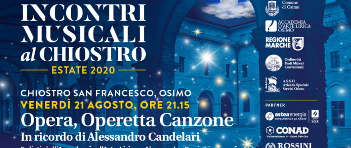 """""""Opera, Operetta, Canzoni"""" with the soloists of the Academy of Lyric Art of Osimo in memory of Alessandro Candelari"""