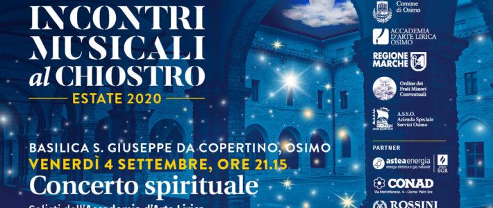 Concerto Spirituale dei Solisti dell'Accademia d'arte Lirica alla Basilica San Giuseppe da Copertino di Osimo