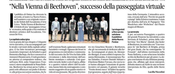 """""""Nella Vienna di Beethoven"""" successo della passeggiata virtuale"""