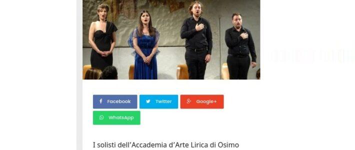 L'Accademia d'Arte Lirica in concerto a San Ginesio