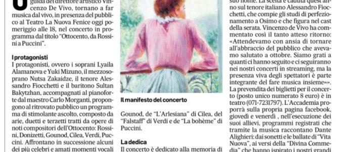 Ottocento con i solisti dell'Accademia d'Arte Lirica di Osimo