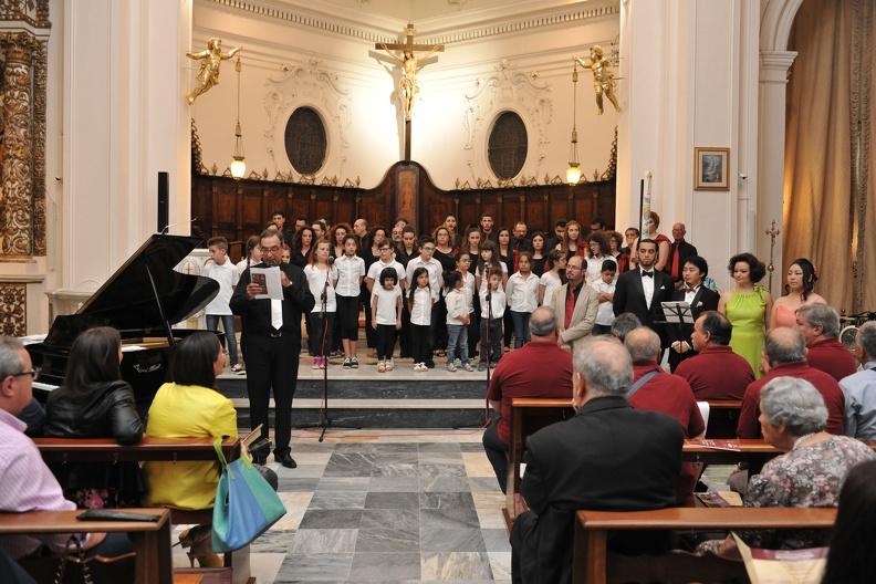 Copertino, Chiesa Santa Maria Ad Nives – 17 giugno 2015. Solisti dell'Accademia d'Arte Lirica, al pianoforte Ettore Papadia.