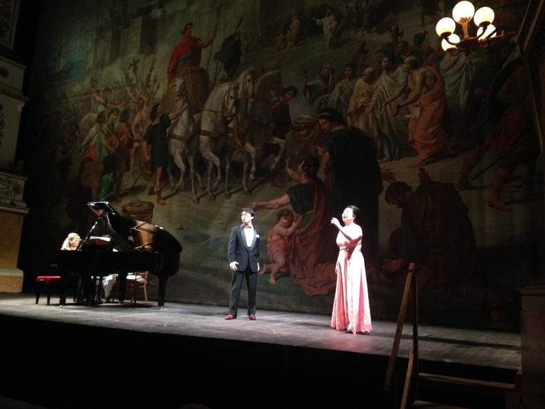 Fano, Teatro della Fortuna - 21 giugno 2015. Solisti dell'Accademia d'Arte Lirica, al pianoforte Mirca Rosciani.