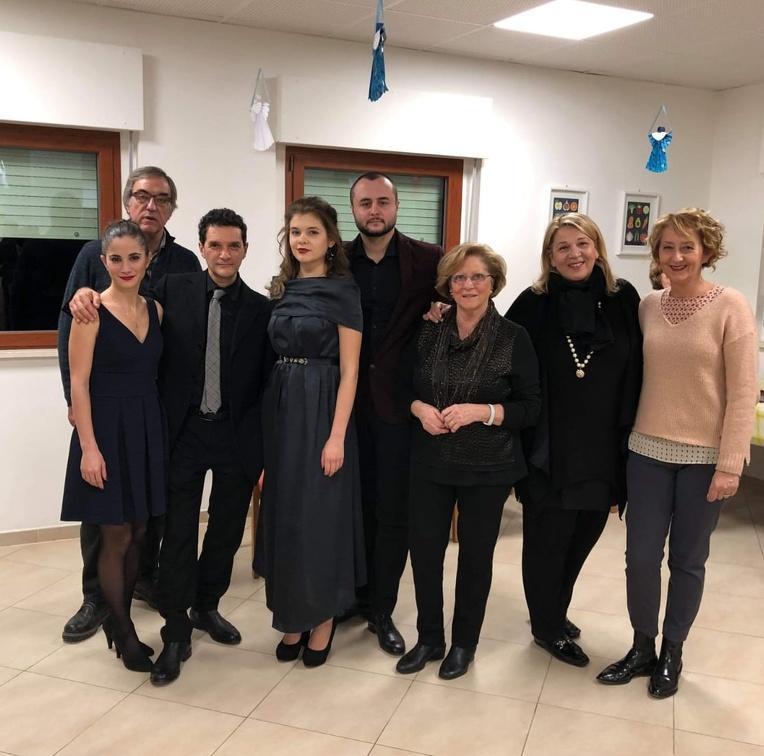 Montegranaro- Sabato 15 Dicembre I Solisti dell'Accademia d'Arte Lirica hanno allietato con musiche e brani natalizi gli ospiti della Fondazione Casa di Riposo Opera Pia Onlus di Montegranaro.